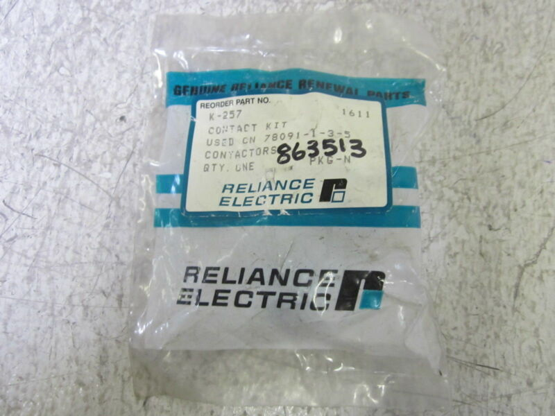 RELIANCE ELECTRIC K-257 CONTACTOR  KIT *NEW IN A FACTORY BAG*