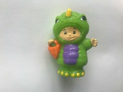 Little Kids In Halloween Costumes (FISHER PRICE LITTLE PEOPLE BOY IN MONSTER DINOSAUR HALLOWEEN COSTUME HTF)