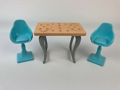 2015 Barbie Dream House Table and Two Chairs Kitchen Replacement Parts
