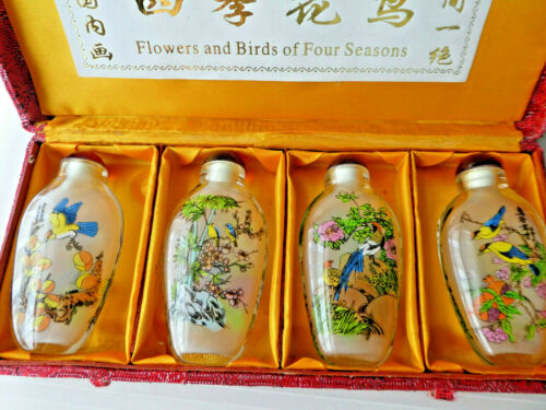 Mid- Century Chinese Snuff Bottle Set of 4