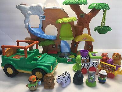 Fisher-Price Little People Zoo Talkers Tree House PlaySet Safari Train Zookeeper