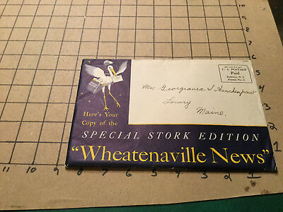 Vintage WHEATENAVILLE NEWS special STORK edition COMPLETE fragile as shown 1934