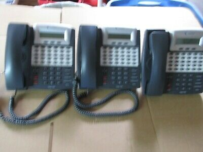 Comdial Vertical 7261-00 Telephone Sets Lot 3ccharcoal Grey