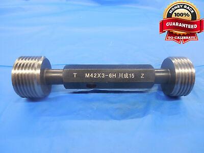 M42 X 3 6h Metric Thread Plug Gage 42.0 3.0 Go No Go P.d.s 40.051 40.316