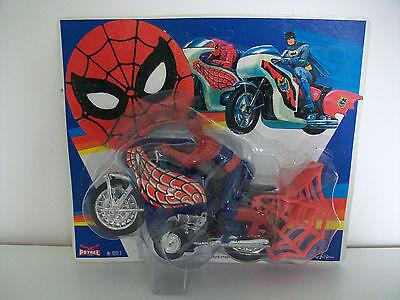 Spiderman vintage Spiderbike Petrel Toys 60/70er Jahre Wind Up Motorrad OVP