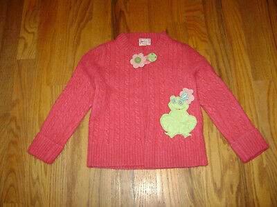 GREEN POMEGRANATE BABY GIRLS CARDIGAN SWEATER size 12 months PINK FROG -