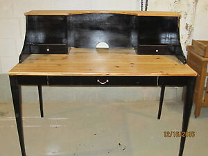 Black and Pine Desk