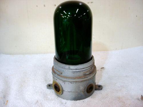 Hubbell Killark  Industrial Light Fixture Explosion Proof / Green Globe Glass