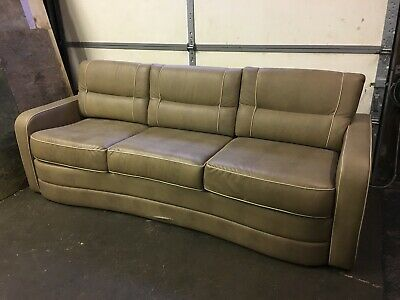 "2015 Villa International 92"" Coffee Brown Air Bed Sofa Couch Boat RV motorhome"