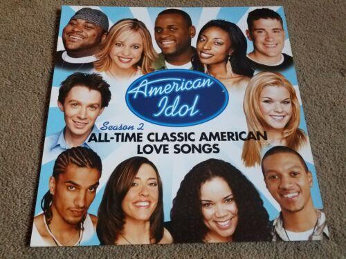 AMERICAN IDOL Season 2 - Clay Aiken - DOUBLE SIDED POSTER FLAT 12 X 12 /  RARE