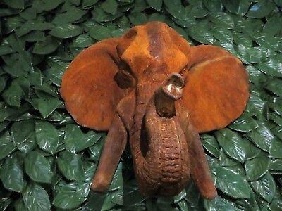 Neu !! Großer Elefantenkopf , Elefant, Eisen, Skulptur, Trophäe, Stoßzahn