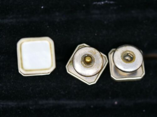 Mother of Pearl Snap Button Cufflinks