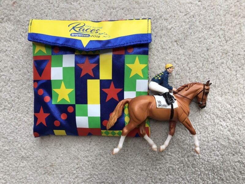 New Breyer BreyerFest Horse Stablemate #711304 Hands Down Racehorse Thoroughbred
