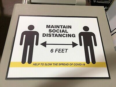 Social Distancing Guidelines Sticker Or Sign Corrugated Plastic 18x24