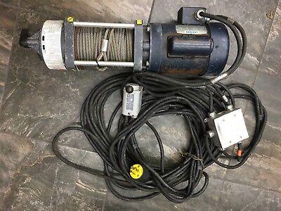 Dayton Electric Winch Salt Spreader Hoist Gantry Crain Salt Spreader Removal A