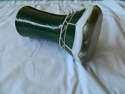 "1 Medium Egyptian Green Ceramic Drum-Doumbek-Tabla Goat skin 11.5"" High for sale  Chula Vista"