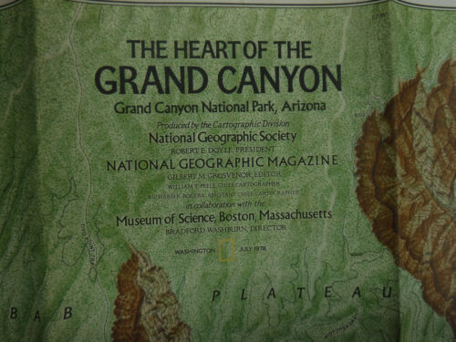 The Heart of the GRAND CANYON July 1978 National Geographic LN