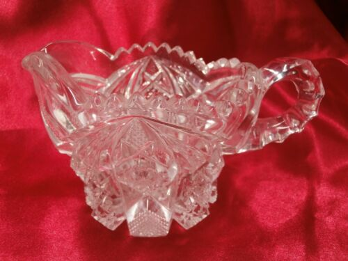 Vintage Imperial Glass Nucut # 526 Creamer - s1b