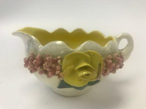 Vintage Lusterware Floral Creamer