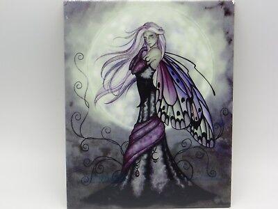 SILVER MOON FAIRY Ceramic Tile Jessica Galbreth 8x10 2006 Mythical Gothic Faerie