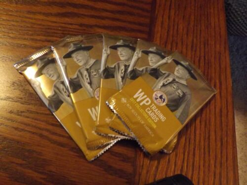 BOY SCOUT 2017 NJ NATIONAL JAMBOREE TRADING CARD PACK (5 PACKS) BADEN POWELL