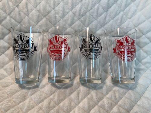 Fox River Brewing Co. Wisconsin 16oz. Beer Glasses Set Of 4