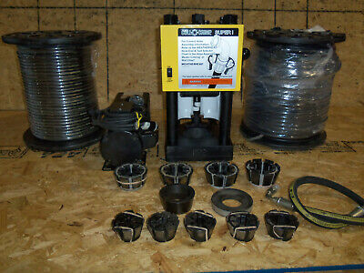 Hydraulic Hose Crimper Machine 4 Wire Weatherhead T-420 2 Reels Of Hose
