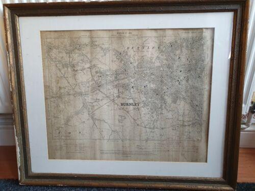 Worsthorne Lancashire 1913: 64NE repro east Old map of Burnley