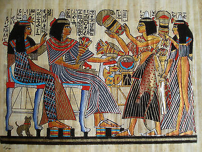 Ägypten Gemälde ägyptische Malerei auf Papyrus handgemalt Aquarell NEU