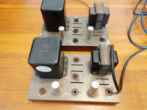 Pair EICO HF-22 Mono Tube Amplifiers 6L6GC Based - Legendary
