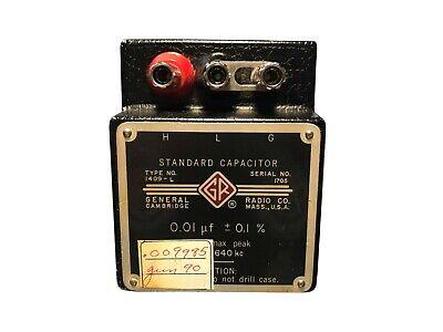 General Radio Type 1409-l Standard Capacitor 0.01uf - 0.05 500v Max Peak