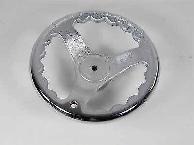 New Solid Cast Iron Hand Wheel With Chrome Rim. 5.5 O.d. Made In Taiwan Ho-5.5