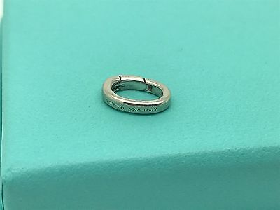 Tiffany & Co Sterling Silver Spring Hinged Hinge Jump Ring Charm Holder Clasp
