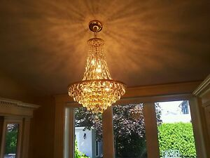 beautiful  crystal  gold Chandelier.