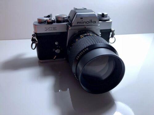 MINOLTA XE SLR 35mm Film Camera With Owen 135mm F2.8 Might Need Repair - $80.00