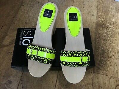 Women's Islo Isabella Lorusso neon yellow designer platform shoes UK 5 / 38