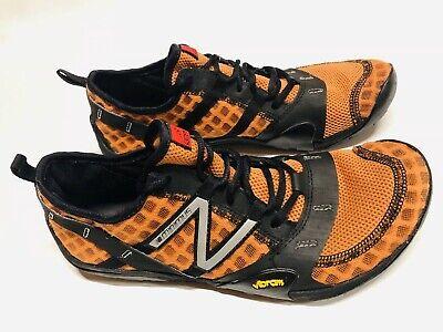 New Balance Men Minimus Running Shoes Size 9.5 Barefoot Vibram MT Orange/Black ()