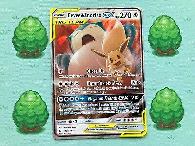 Pokemon - Eevee & Snorlax GX - 120/181 - SM Team Up - Half Art