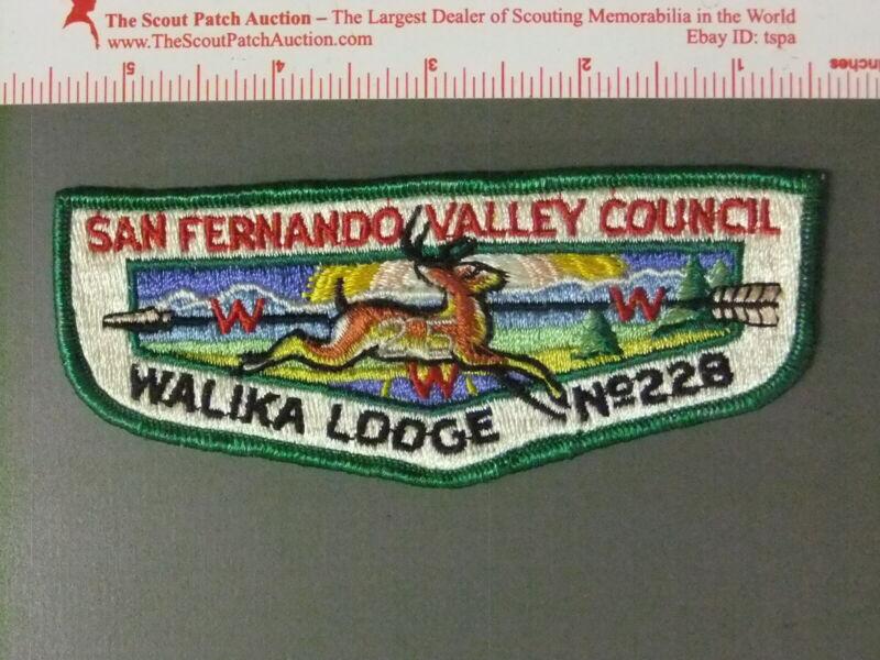 Boy Scout OA 228 Walika Lodge 25th Anniversary Flap 7439JJ