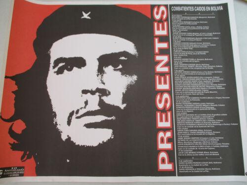 Che Guevara Bolivia Poster Spanish Language Communist Cuban Revolution 1997