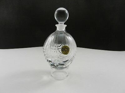 Royal Crystal Rock Italy Magnolia Rosa Cologne w Stopper Clear 5 1/4