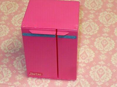 Mattel Barbie Doll Furniture VINTAGE MINI PINK FRIDGE SUPER STAR DREAM HOUSE '84