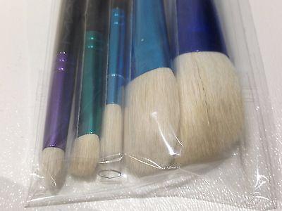 MAC   Brush Set 5 PC ! Contour Blending Cheek Eye &  Makeup Bag for sale  Houston