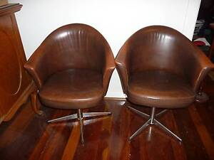 retro leather tub swivel chairs x 6 Bunbury Bunbury Area Preview