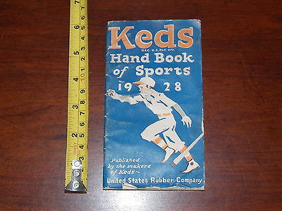 RARE BOOKLET 1928 KEDS HAND BOOK OF SPORTS RUBBER COMPANY ADVERTISMENT SHOES