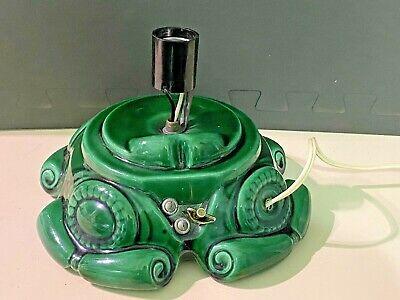Vintage Ceramic Mold Christmas Tree Light Base w Wind Up Music Box