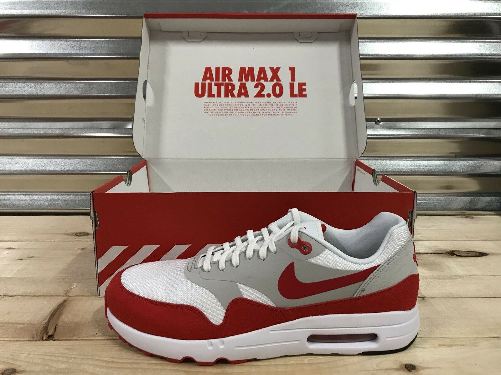 finest selection d2a04 34e66 Nike Air Max 1 Ultra 2.0 LE Air Max Day 3.26 Shoes White Red SZ ( 908091-100  )
