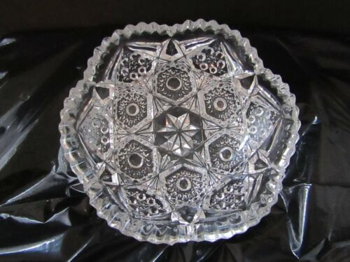 Antique American Brilliant Period (ABP) cut glass candy dish/ Nappy