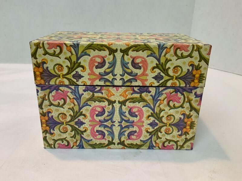 Ohio Art Metal Tin Recipe Box Retro Colors VGC!