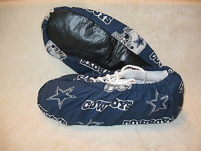 Men's Nfl (cowboys). Bowling Shoe Cover. Handmade.cotton, Lined With Vinyl Soles